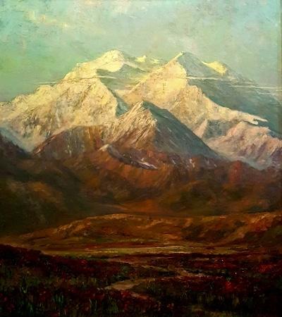 William Dorsey Mt McKinley Denali 40x30 Oil on board