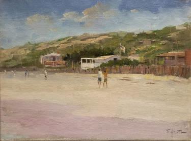 Felice Hrovat Hills ABove Crystal Cove 9x12 Oil on Canvas