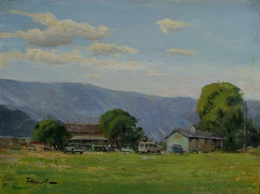 Felice Hrovat California Homestead 9x12 Oil on Canvas