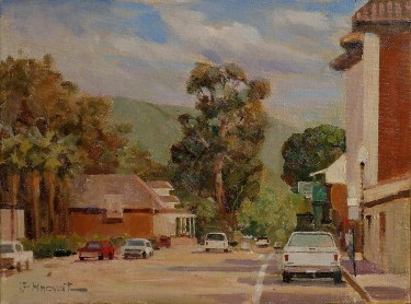 Felice Hrovat Downtown Capistrano 16x20 Oil on Canvas