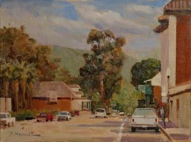 Felice Hrovat Downtown Capistrano 16x20 Oil on Canvas