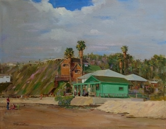 Felice Hrovat Artist Shack at Crystal Cove 24x30 Oil on Canvas