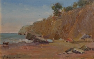 Felice Hrovat California Cove 6x8 Oil on Board