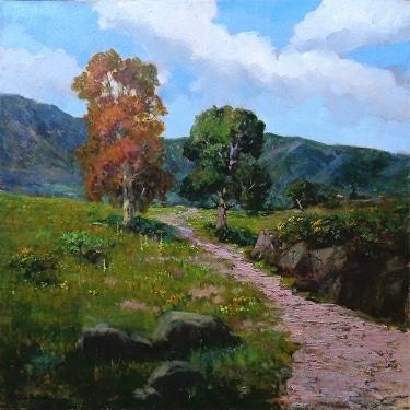 Felice Hrovat California Foothills 36x36 Oil on Canvas