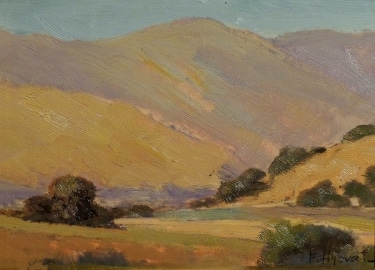 Felice Hrovat California Hills 6x8 Oil on Board