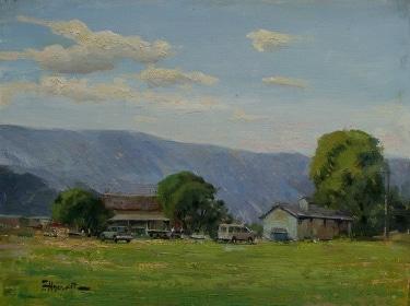 Felice Hrovat California Homestead 9x12 Oil on Canvas