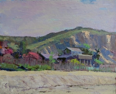 Felice Hrovat Color at Crystal Cove 8x10 Oil on Board