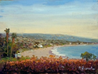 Felice Hrovat Laguna Overlook 9x12 Oil on Board