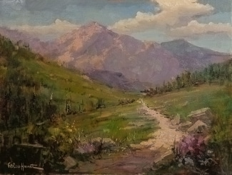 Felice Hrovat Mountain Path 18x24 Oil on Canvas