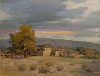 Felice Hrovat New Mexico Pueblo 12x16 Oil on Canvas