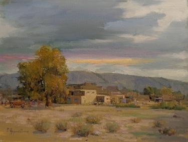 Felice Hrovat New Mexico Pueblo 12x16 Oil on Canvas