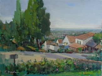 Felice Hrovat Overlooking the Valley 12x16 Oil on Canvas