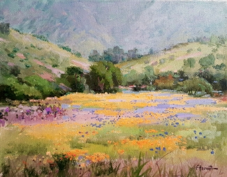 Felice Hrovat Spring Wildflowers 11x14 Oil on Canvas