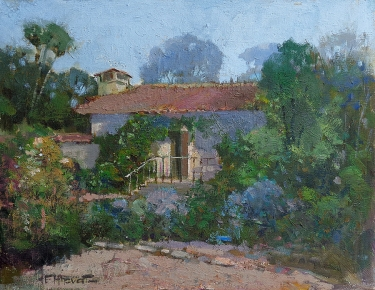 Felice Hrovat The Old Mill–South Pasadena 11x14 Oil on Board