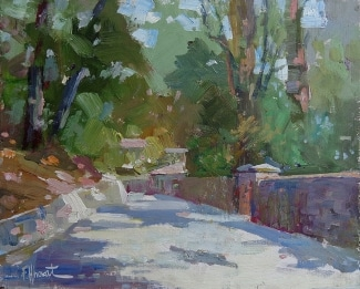 Felice Hrovat The Walkway 9x12 Oil on Board