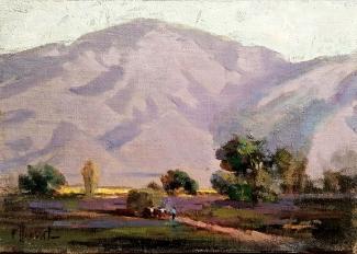 Felice Hrovat Valley Farm 8x10 Oil on Board