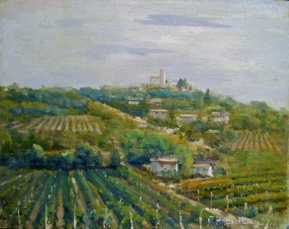 Felice Hrovat Wine Country 11x14 Oil on Canvas
