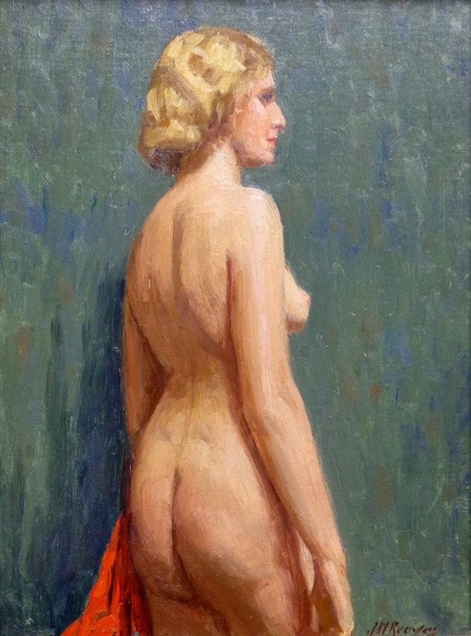 J. Mason Reeves  Nude in Profile  14x10 oil on canvas board