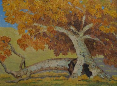 Californian Artist Painting of a Fallen Sycamore