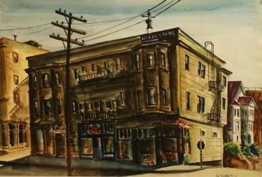 Paul Wildhaber The Crestone Building 18x22 Watercolor