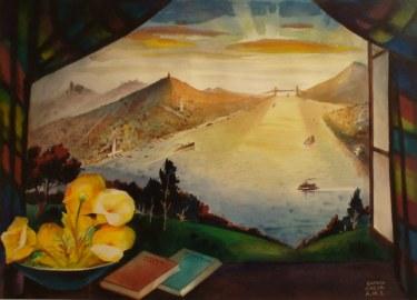 Ramon Garcia City of Promise 22x30 Watercolor