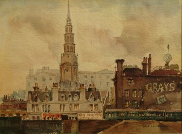 William Ross Cameron Wrens Spire 9x12 Watercolor