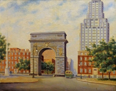 Alexander Nelke Columbus Circle 16x20 oil on canvas
