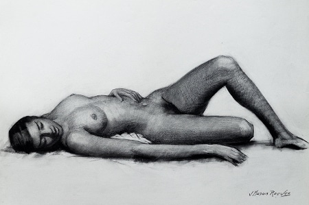 J. Mason Reeves  Reclining Nude  22x16 pencil drawing
