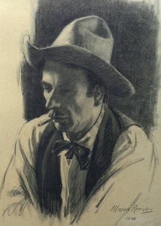 J. Mason Reeves  The Cowpoke  20x16 pencil drawing