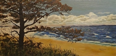 S. Van Dyken California Coast Vista 15x30 Oil on Board