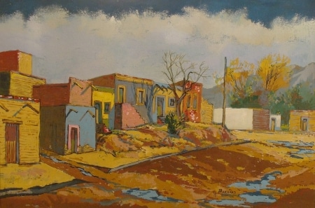 Barnard Colorful Adobes 20x30 Mixed Media