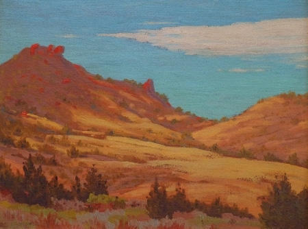 Carl D Hegner Golden California Hills 12x16 Oil on Board
