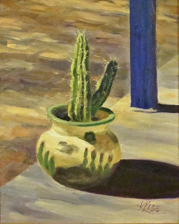 Kendra Page Patio Pot 10x8 Oil on Canvas