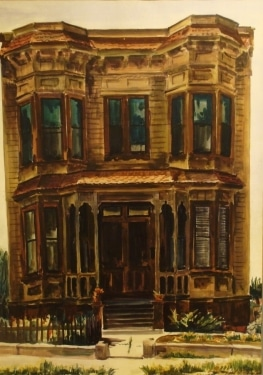 Paul Wildhaber Bunker Hill Relic 28x20 Watercolor