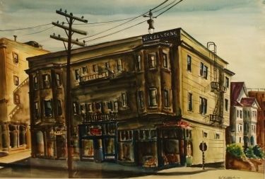 Paul Wildhaber The Crestone Building 18x22 Watercolor