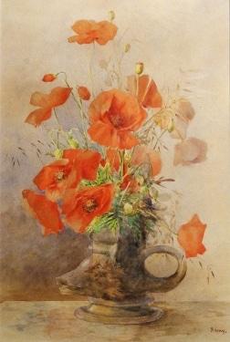 R G Tay California Poppies 20x13 Watercolor