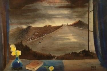 Ramon Garcia Safe Harbor 18x24 Watercolor