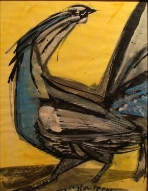 Robert George Rooster 30x22 Watercolor