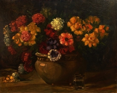 Unknown Artist Bouquet of Color 18x24 Oil on Canvas
