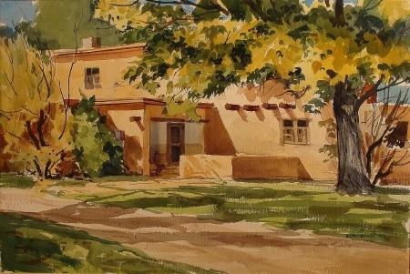 VM Hassett Spanish Retreat 18x24 Watercolor