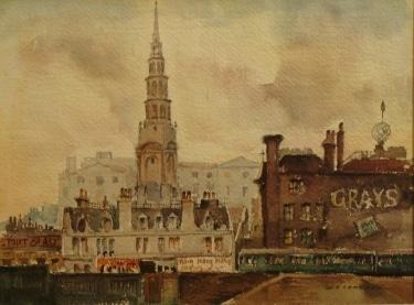 William Ross Cameron Wrens Spire 9x12 Watercolor