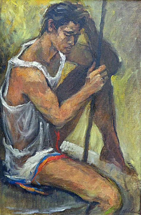 George Michaud The Athlete 36x24 Oil on Canvas