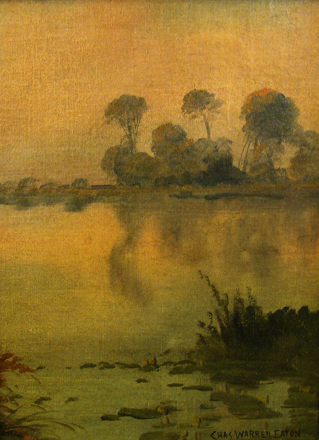 Charles Warren Eaton Early Morning Haze 12x9 Canvas on Board