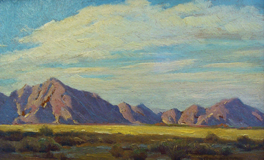 Clyde Forsythe Desert Shadows 7x12 Oil on Board