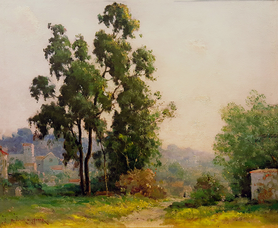 Dedrick Stuber Hollywood Hills Oil on Board 20x24