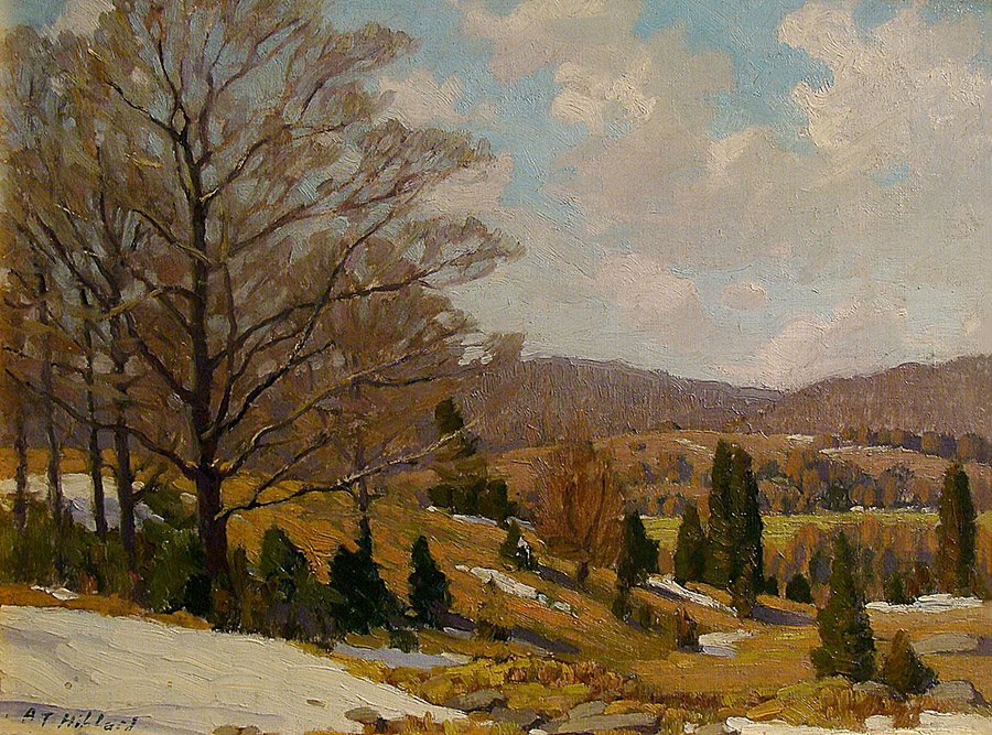 Aldro T. Hibbard Signs of Spring 12x16 Oil on Board