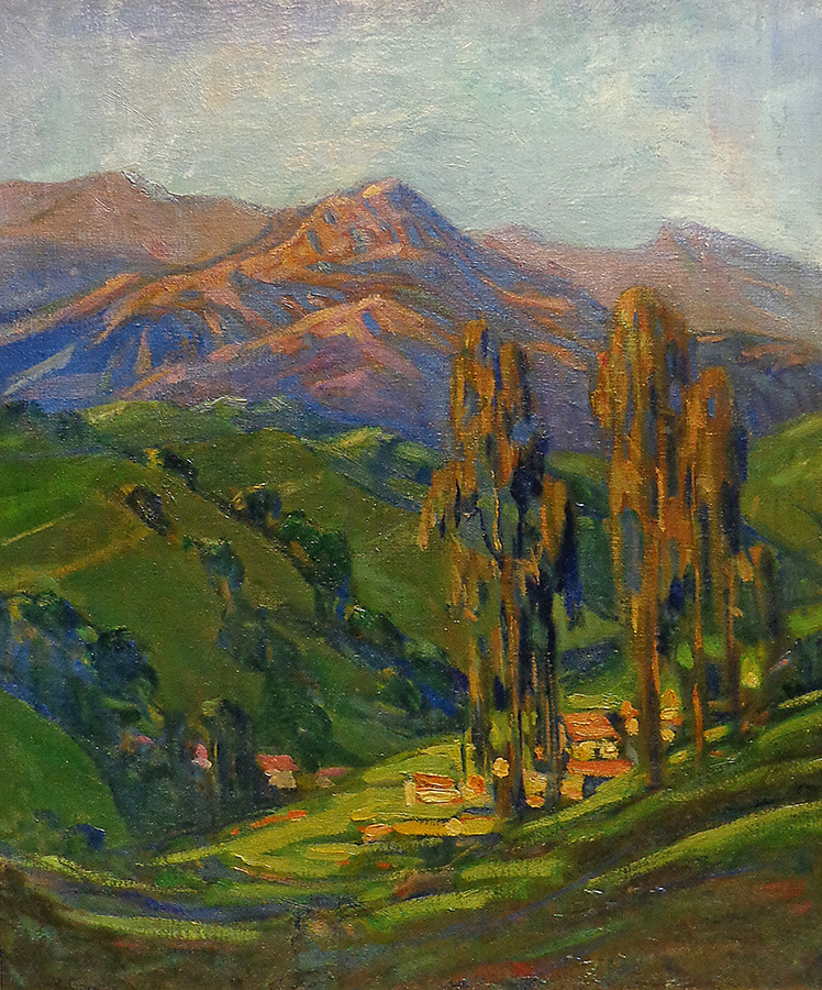 Alice Comins Hills of Santa Barbara 24x20 oil on canvas