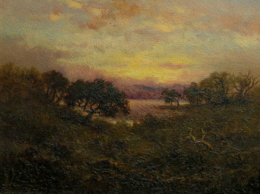 Annie Harmon Sunset 10x13.5 Oil on Board