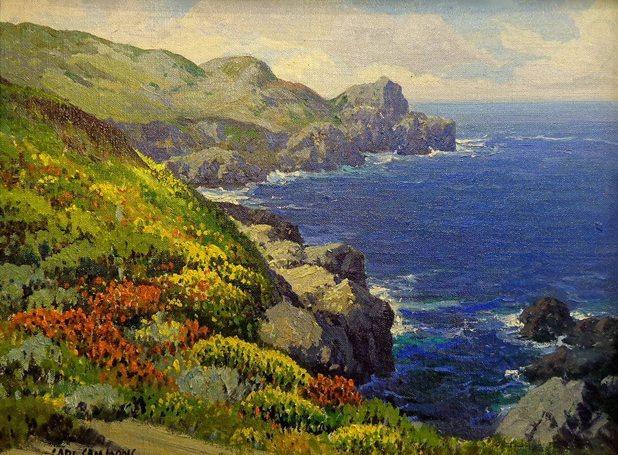 Carl Sammons Wildflowers Carmel Coast 12x16 Oil on Canvas