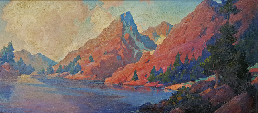 Charles Pearcy Austin Sierra Lake 14x34 Oil on Board